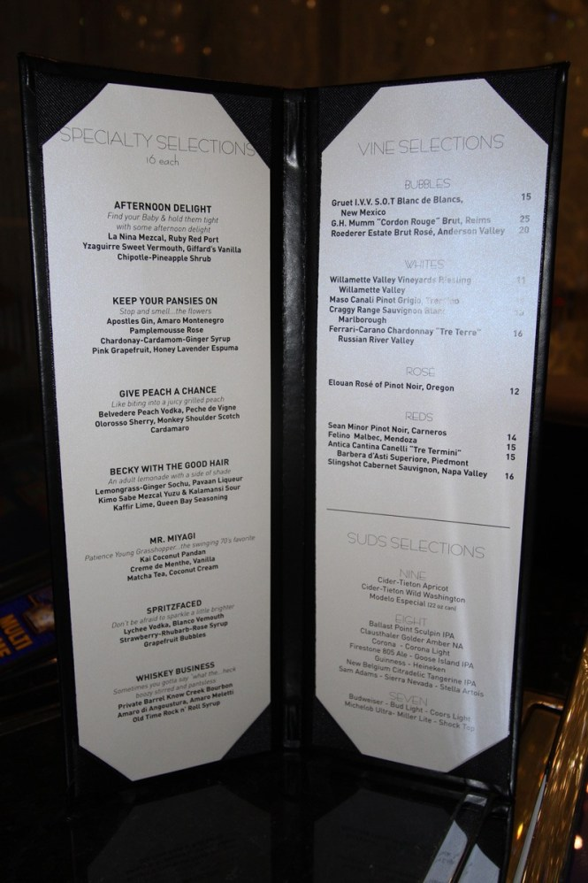 Here S A Closer Look At Chandelier Specialty Tail Menu