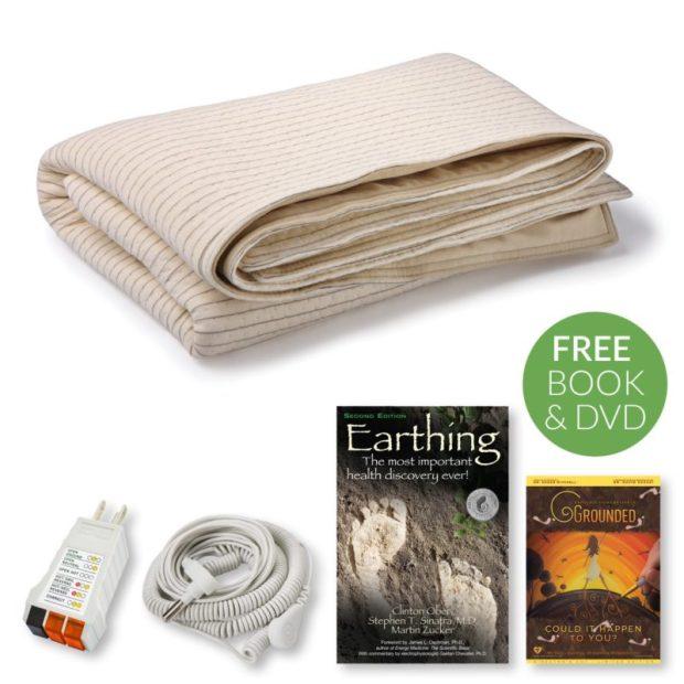 earthing, grounding, blanket, earthing blanket, earthing throw