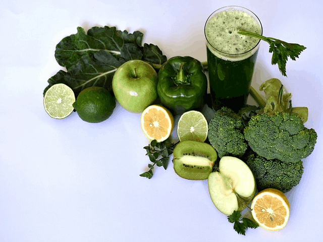 Eat Green Vegetables And Drink Green Juice.