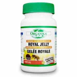 غذاء ملكات النحل 1000 ملغم 30 كبسولة Organika Royal Jelly