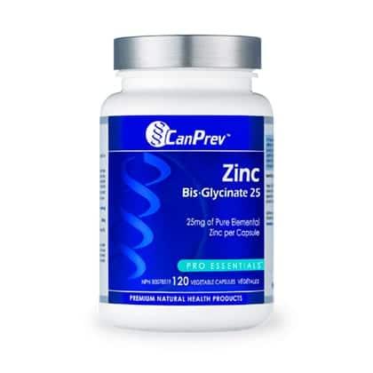 الزنك بيس جليسينات CanPrev Zinc Bis-Glycinate 25mg 120Vcap