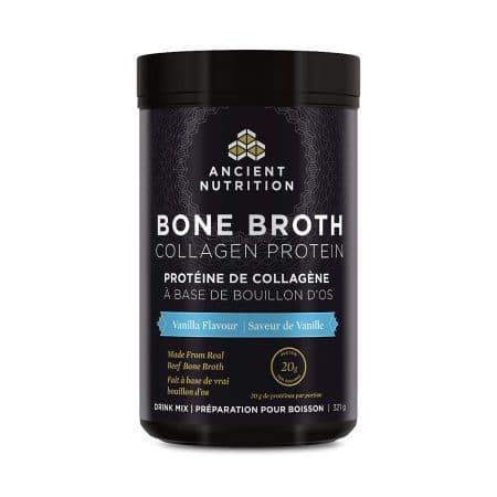 بون بروث بقري Ancient Nutrition Bone Broth Collagen Protein 321 g - Vanilla