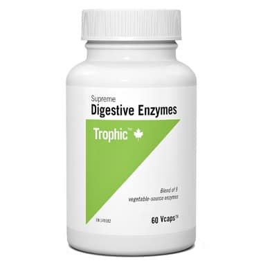 أنزيمات الهضم الفائقة Trophic Supreme Digestive Enzymes 60 Vcap