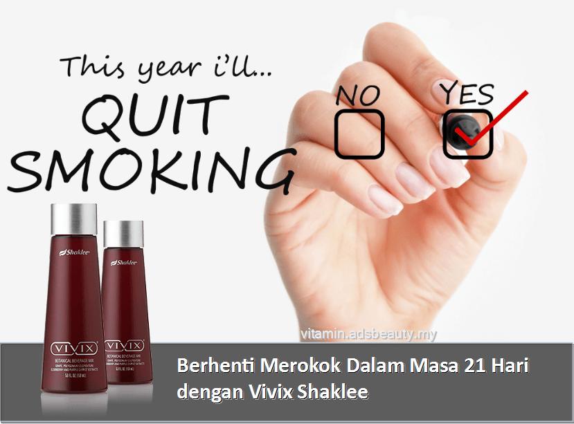 Cara Berhenti Merokok Cepat Dengan Vivix Shaklee