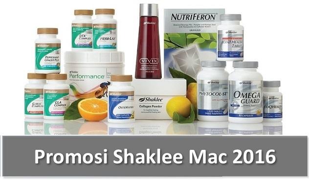 Promosi Shaklee Mac 2016