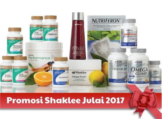 Promosi Shaklee Julai 2017 Promosi Shaklee July 2017
