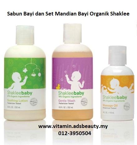 Sabun Bayi dan Set Mandian Bayi Organik Shaklee Baby