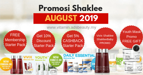 Promosi Shaklee Ogos 2019 Promo August 2019