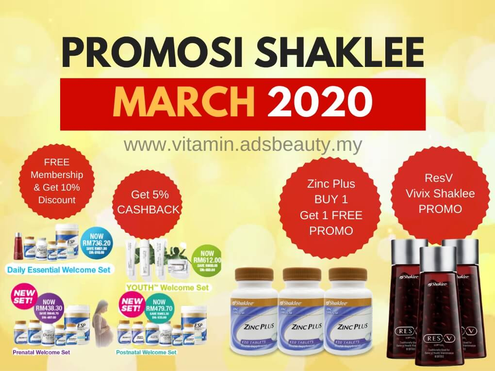 Promosi Shaklee March 2020 Mac 2020 Promo