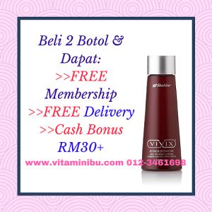 Harga Vivix Shaklee 2 Botol Free Membership