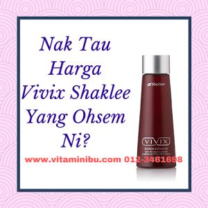 Harga Vivix Shaklee 2017