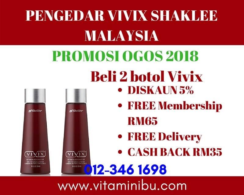 Harga Vivix Shaklee - Promosi Vivix Shaklee - Harga Vivix Shaklee Murah - Pengedar Vivix Shaklee - Agen Vivix Shaklee
