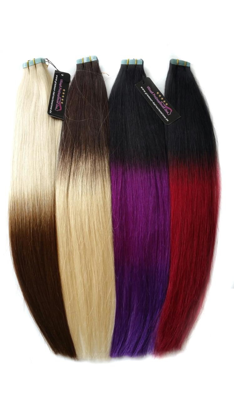 OMBRE Echthaar Tape In On Extensions Haarverlngerung REMY INDIAN Human Hair  eBay