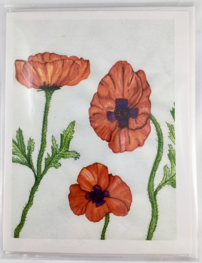 opium poppy Greeting Card Front