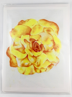 Rose Card Front Sleeve