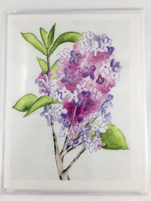 Lilac Card Front Sleeve