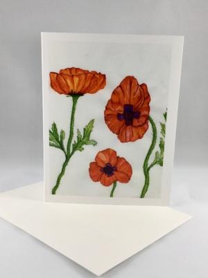 Poppy Card Standing