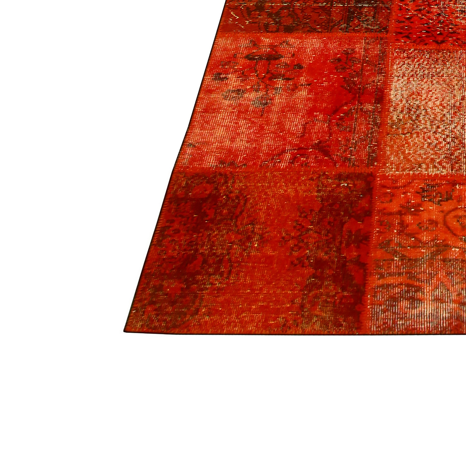 Teppich Orange Orange Vintage Patchwork Flicken Teppich 430x300cm