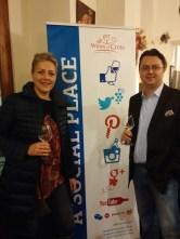 Agnese con il Presidente dell'associazione Wines of Crete e proprietario di Minos Wines, Nikos Miliarakis.