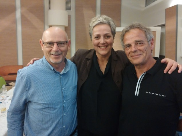 Agnese con Stanko Radikon e Dario Princic