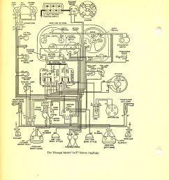 triumph saloon 1948 1949 wiring diagram  [ 1519 x 1815 Pixel ]