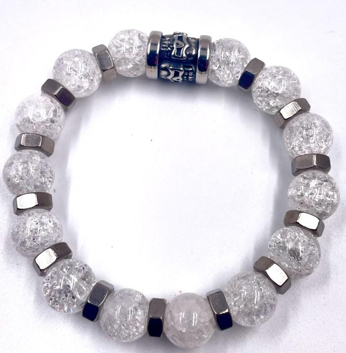 Bracelet perle quartz vito art Métal