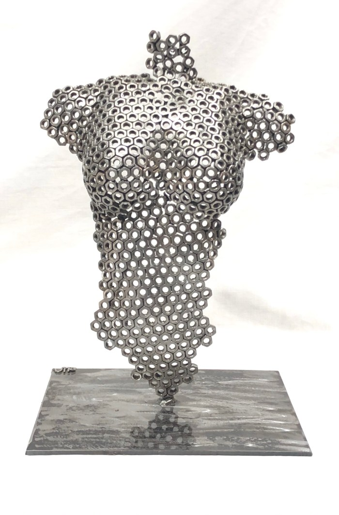 Buste femme sculpture vito art metal