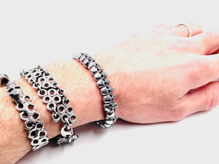 Bracelet tête de mort vitoartmetal