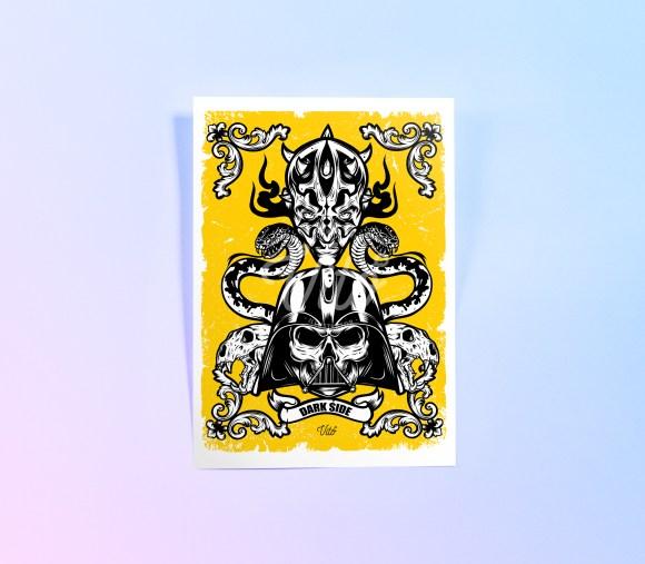 Dark side poster Mockup website