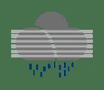 nevoeiro e chuva fraca ou chuvisco