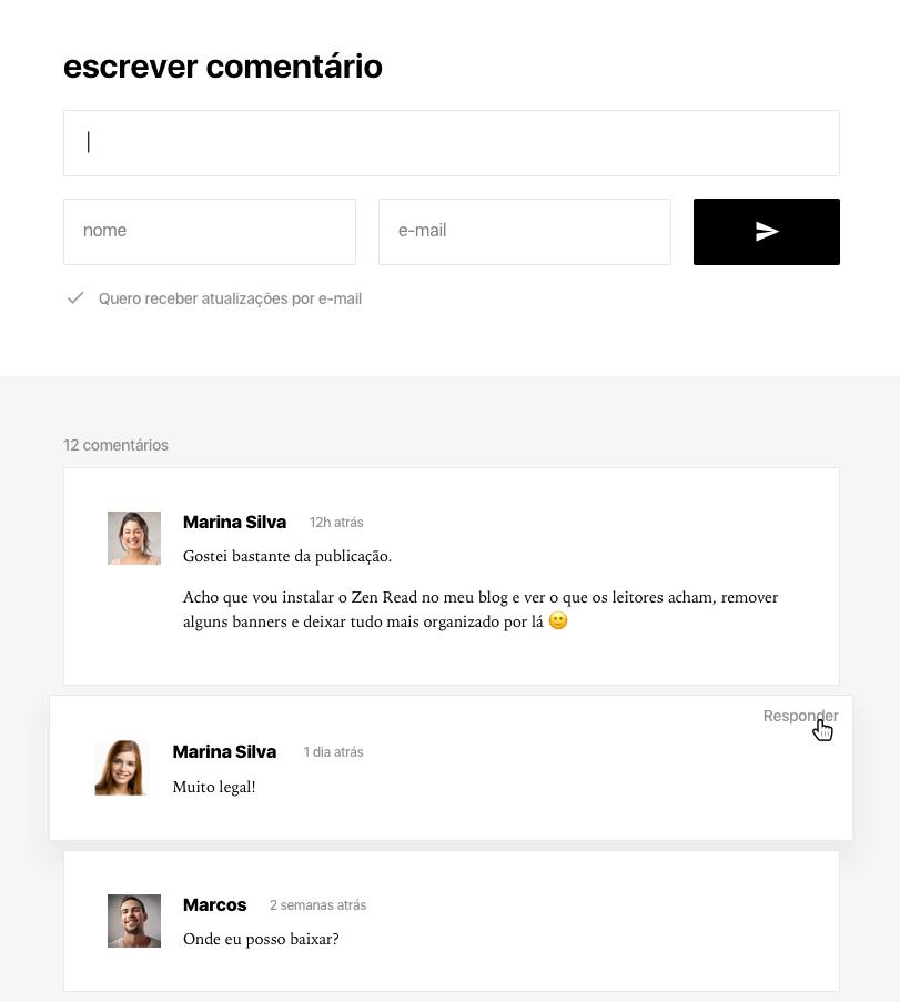 Comentários do tema