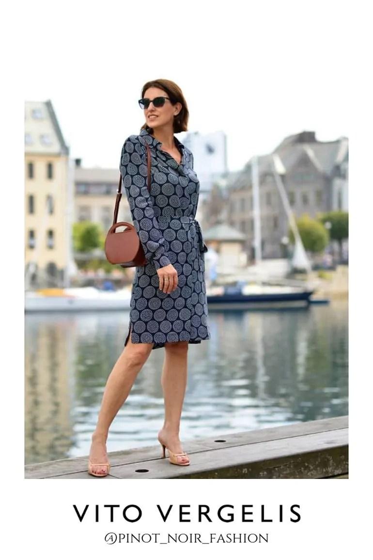 blogerka Pinot Noir Fashion w koszulowej sukience Vito Vergelis