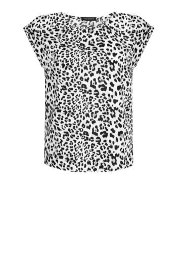 Biała bluzka z cętki. Bluzka damska planterka polskiej marki Vito Vergelis