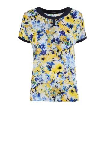 Bluzka Vito Vergelis w żółte kwiaty z suwakiem