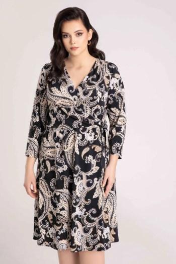 kopertowa sukienka dzianinowa we wzór marki Vito Vergelis