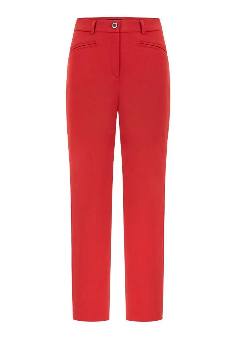 czerwone spodnie damskie. Elastyczne spodnie Vito Vergelis