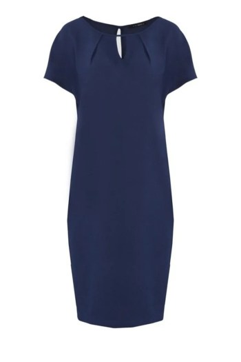 Niebieska sukienka oversize z krótkim rękawkiem marki Vito Vergelis