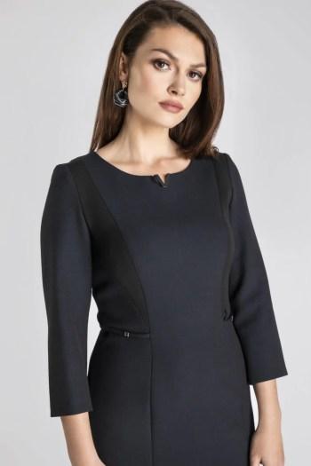Linia biznes. Klasyczna sukienka do pracy na jesień marki Vito Vergelis