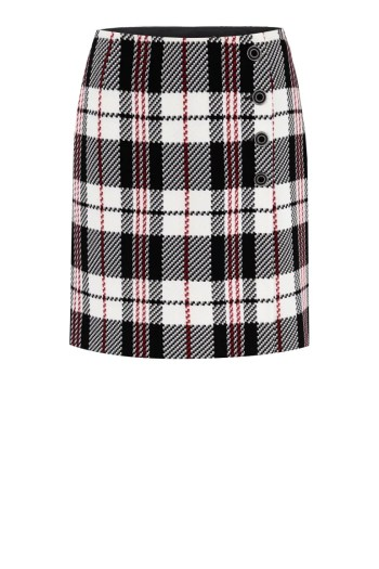 Krótka spódnica w kratkę polskiej marki Vito Vergelis