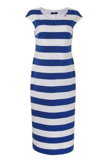 długa dzianinowa sukienka w paski Vito Vergelis 6179