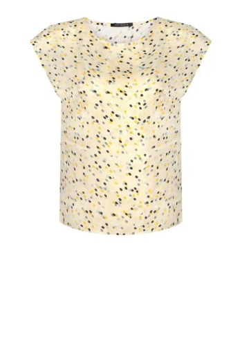 żółta bluzka damska w groszki polska marka Vito Vergelis
