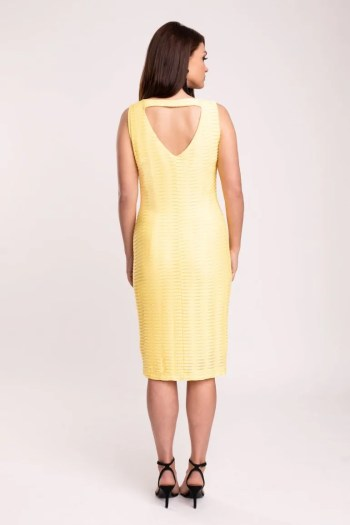 Żółta sukienka tuba marki Vito Vergelis