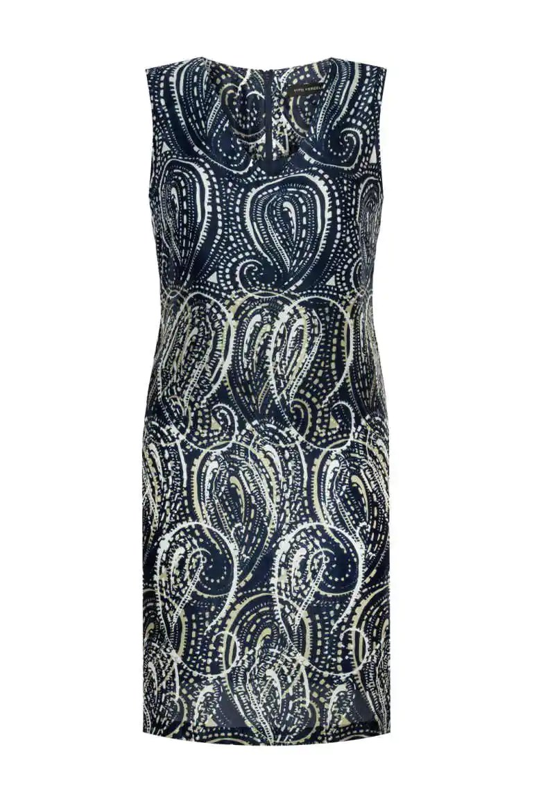 letnia sukienka bez rękawków z wiskozy i jedwabiu polska marka Vito Vergelis