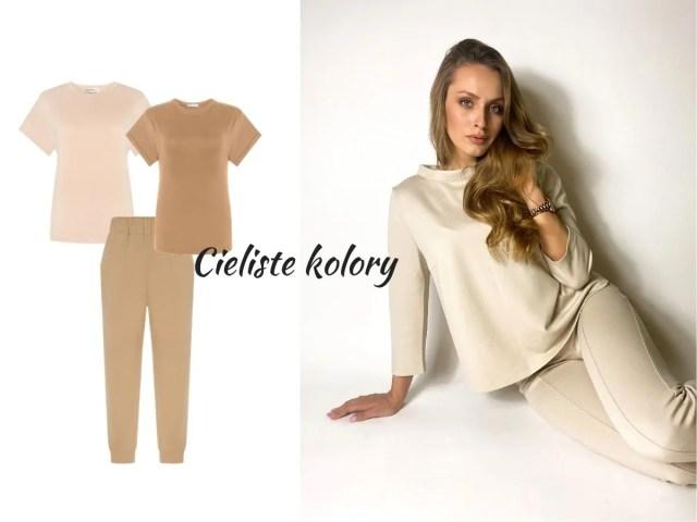 trendy wiosna lato 2021 moda damska - cieliste kolory - nude dresy
