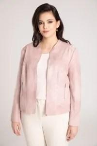 trendy wiosna lato 2021 moda damska ubrania modne kolory różowa kurtka skórzana
