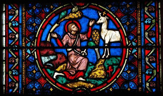 saint Hubert vitrail de notre dame de Paris