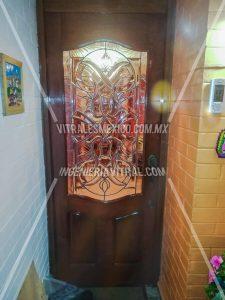 Vitral emplomado para puerta