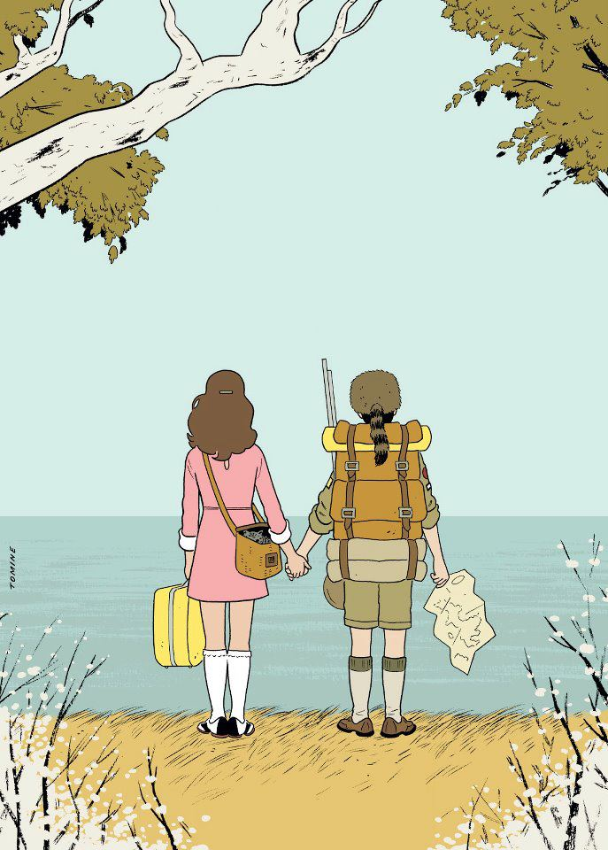 Moonrise Kingdom, por Adrian Tomine