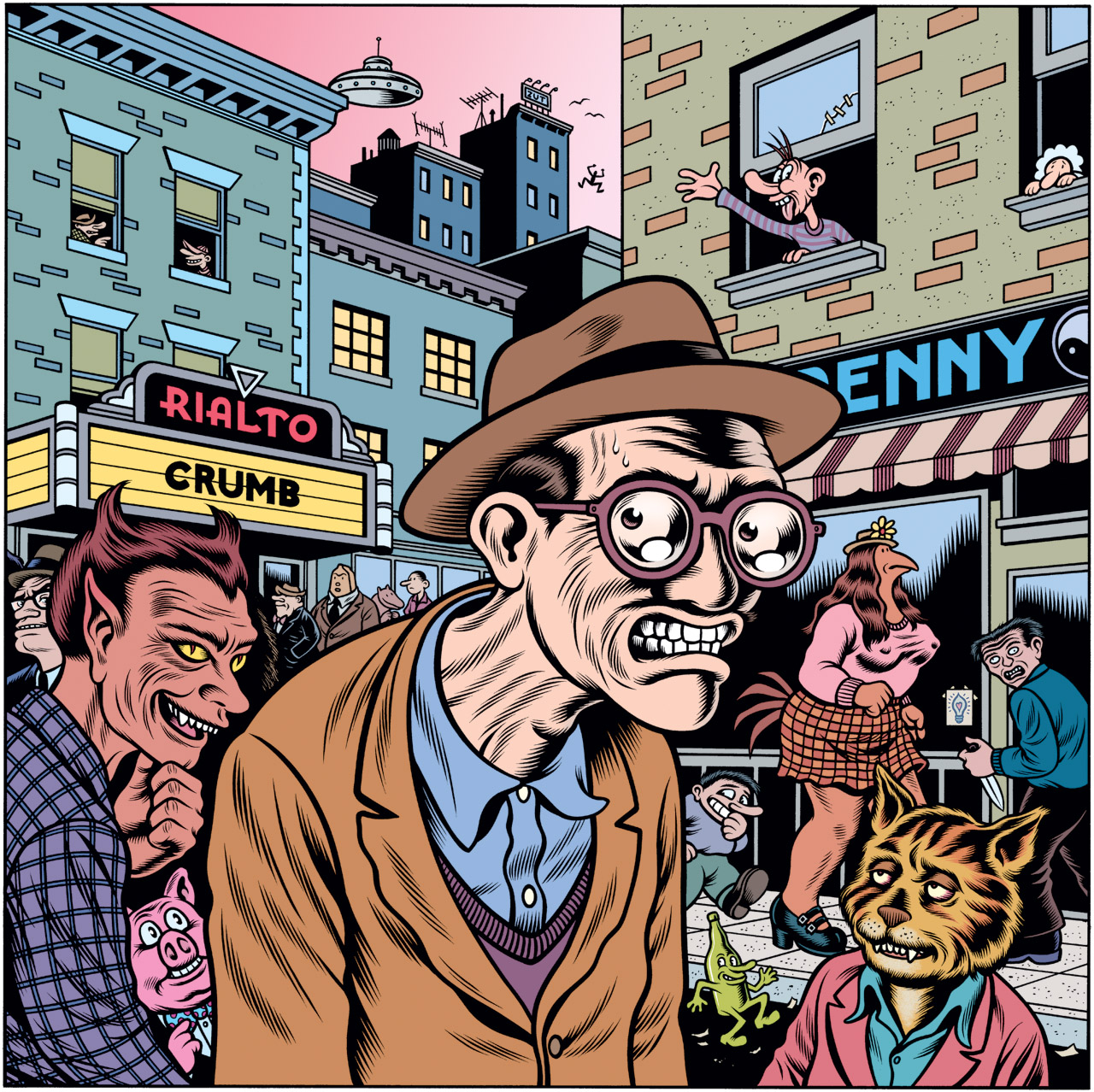 Robert Crumb, por Charles Burns