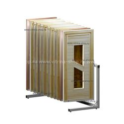 Экспозитор для банных дверей на 12 мест усиленный
